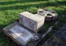 Toppled over Gravestone